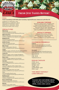 luna menu